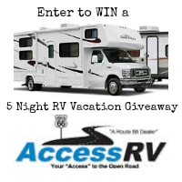 5 Night RV Vacation Giveaway