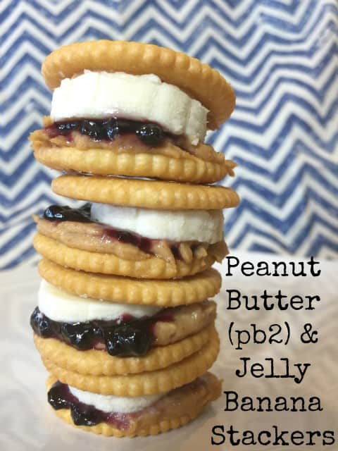 Peanut Butter and Jelly Banana Stackers
