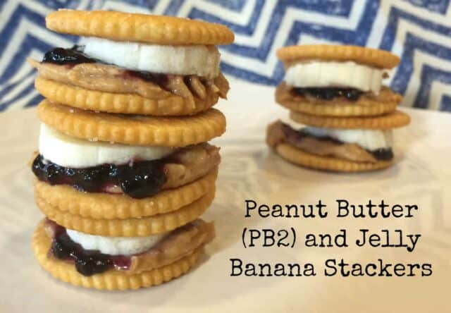 Peanut Butter and Jelly Banana StackersPB2