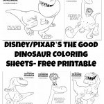 The Good Dinosaur Coloring Sheets