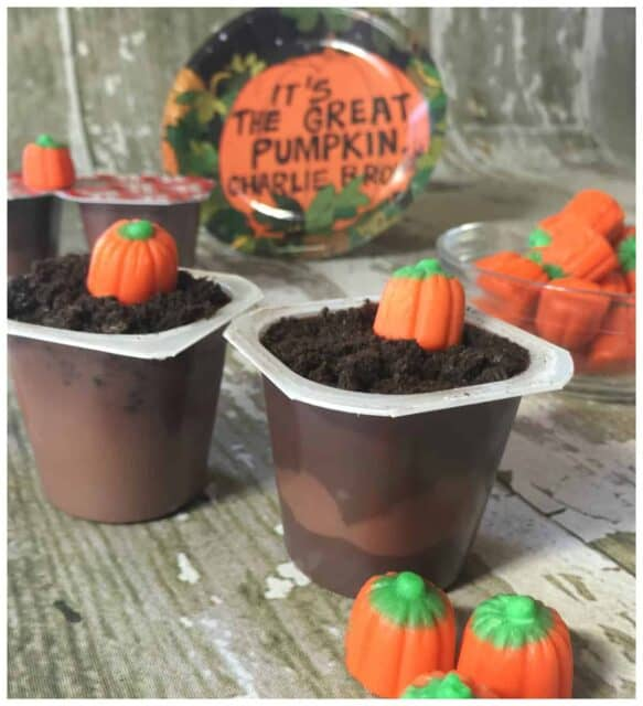 It's the Great Pumpkin, Charlie Brown Pudding Cup Halloween Recipe