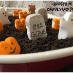 Halloween Peeps Ghosts in the Graveyard Pudding