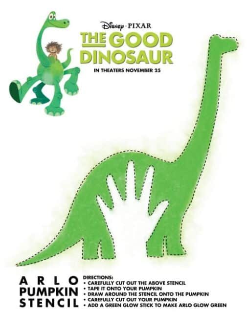 TheGoodDinosaurStencil