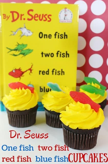 One Fish Two Fish Dr. Seuss Cupcakes