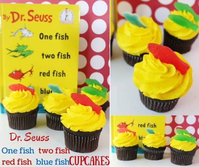 Dr. Seuss One Fish Two Fish Cupcakes