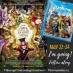 I'm going to Los Angeles for the ALICE THROUGH THE LOOKING GLASS and ZOOTOPIA Event!
