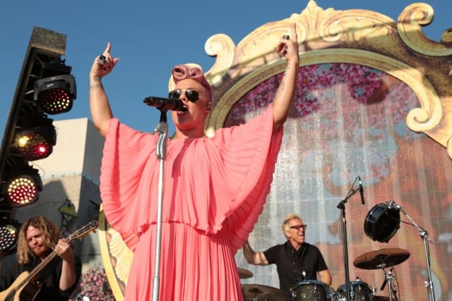 "Soundtrack artist, Pink performs at the US Premiere of Disney's ""Alice Through the Looking Glass"" at the El Capitan Theater in Los Angeles, CA on Monday, May 23, 2016. .(Photo: Alex J. Berliner/ABImages)"