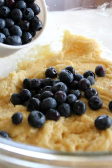 Easy One Bowl Blueberry Muffins Batter