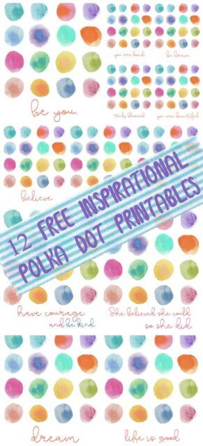 12 Free Inspirational Polka Dot Printables
