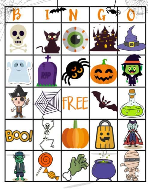 Free Halloween Printable Bingo Board