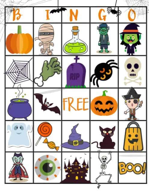photo relating to Free Halloween Bingo Printable named No cost Halloween Printable Bingo Board