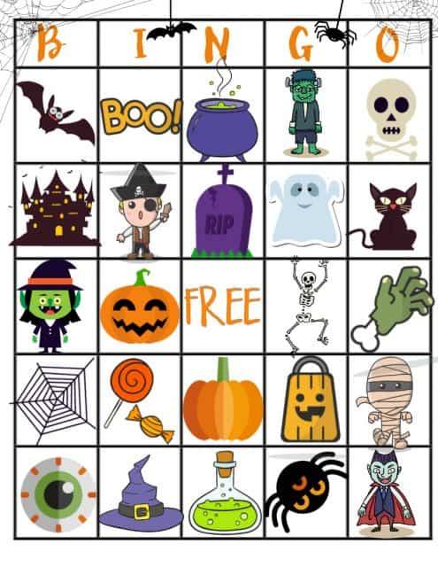 Halloween Bingo Board Printable