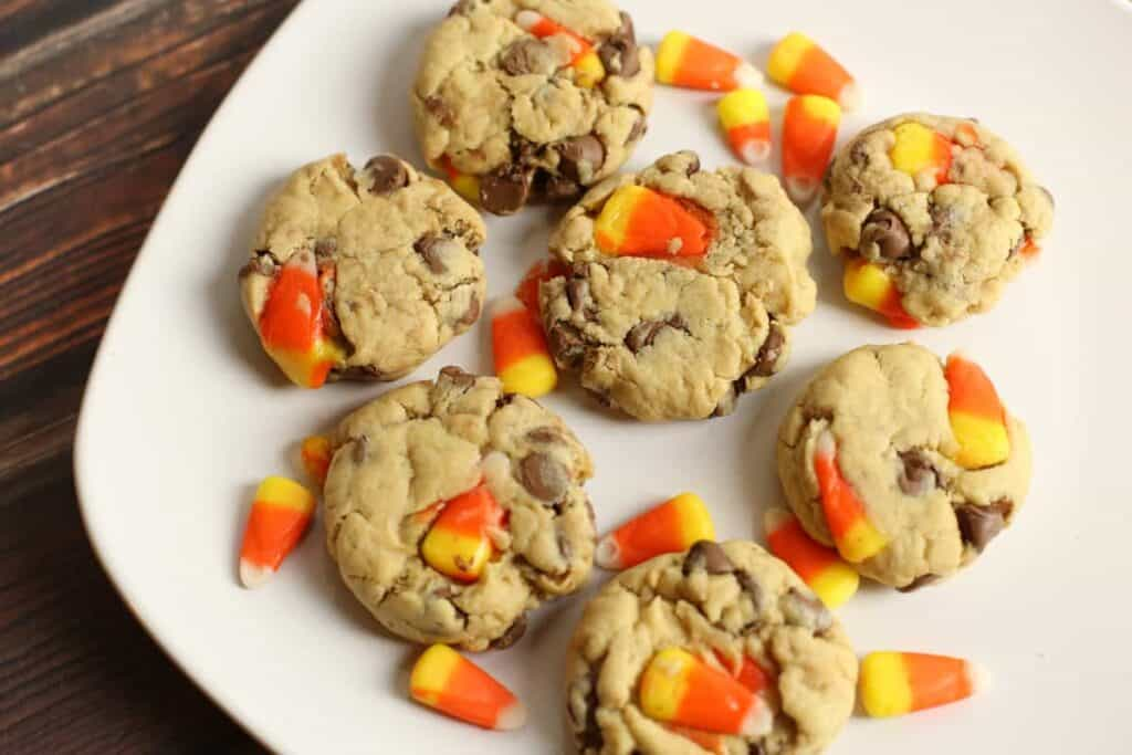 Chocolate Chip Candy Corn Cookies