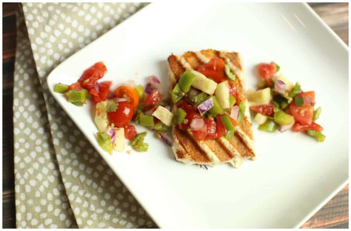 Lemon Pepper Bruschetta Salmon