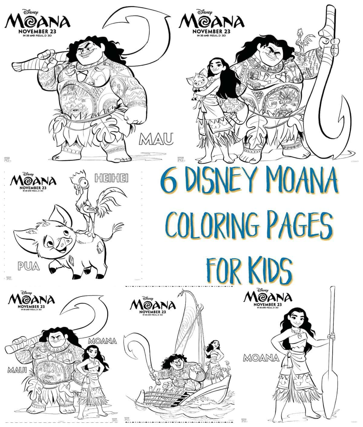 You'll Love These Printable Moana Coloring Pages - D23 | 2000x1697