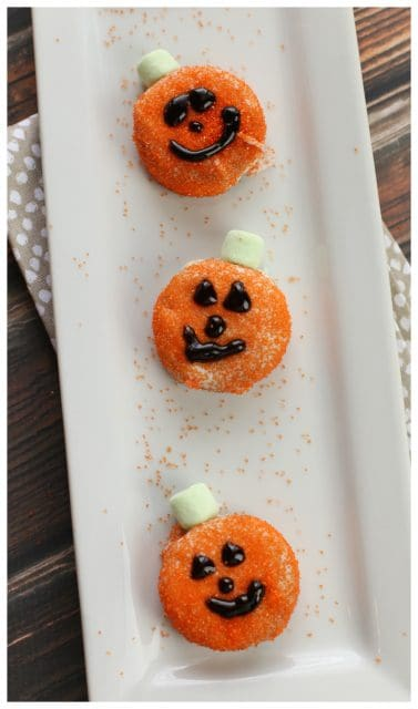 White Chocolate Covered Oreo Pumpkins