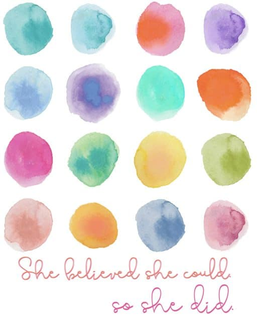She believed she could and she did free printable