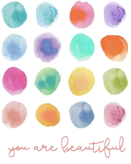 You are Beautiful Free Printable