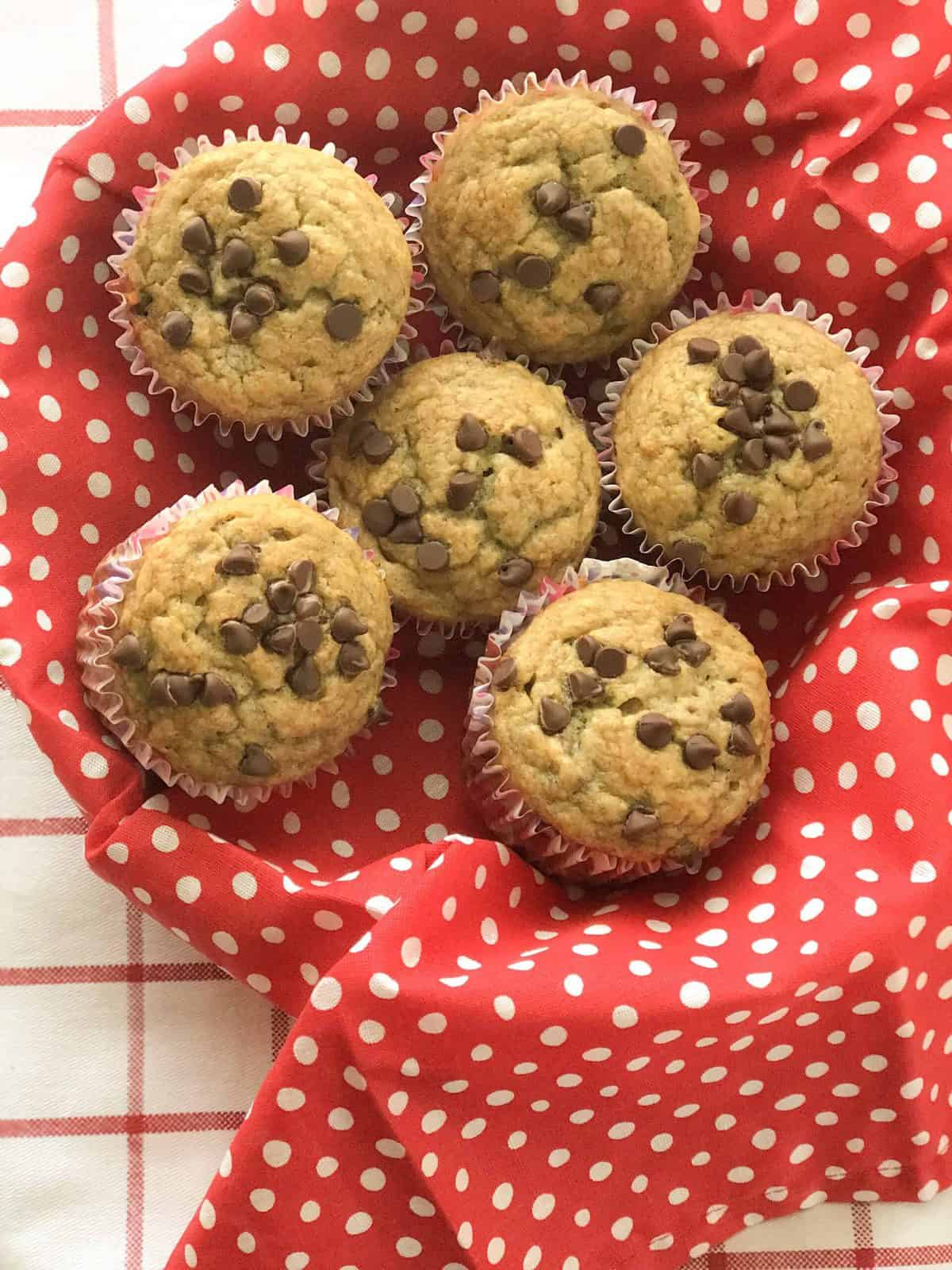 A close up of many different types of muffins