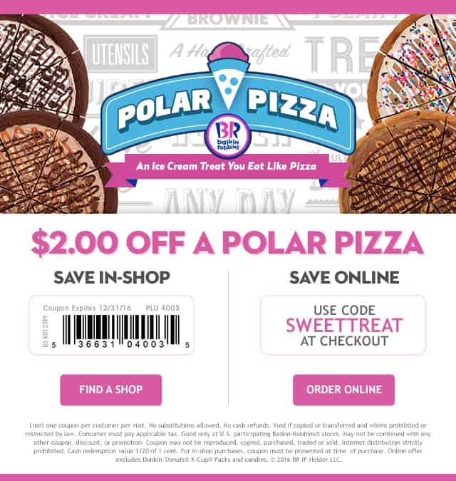 $2.00 OFF Polar Pizza Dual Coupon