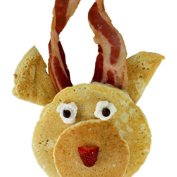 Fun Reindeer Pancakes breakfast idea