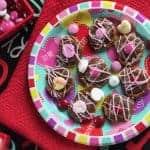 Valentines Chocolate Caramel Pretzels