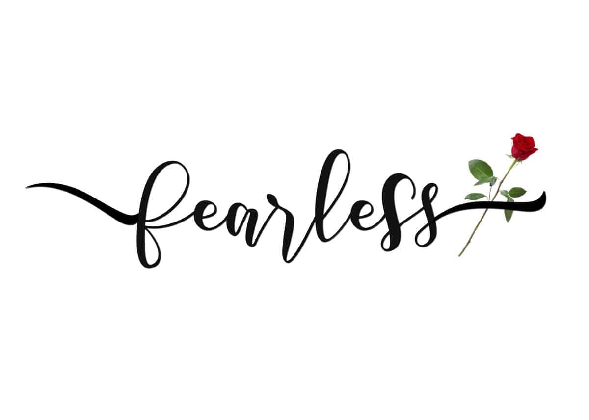 Beauty and the Beast Fearless Printable