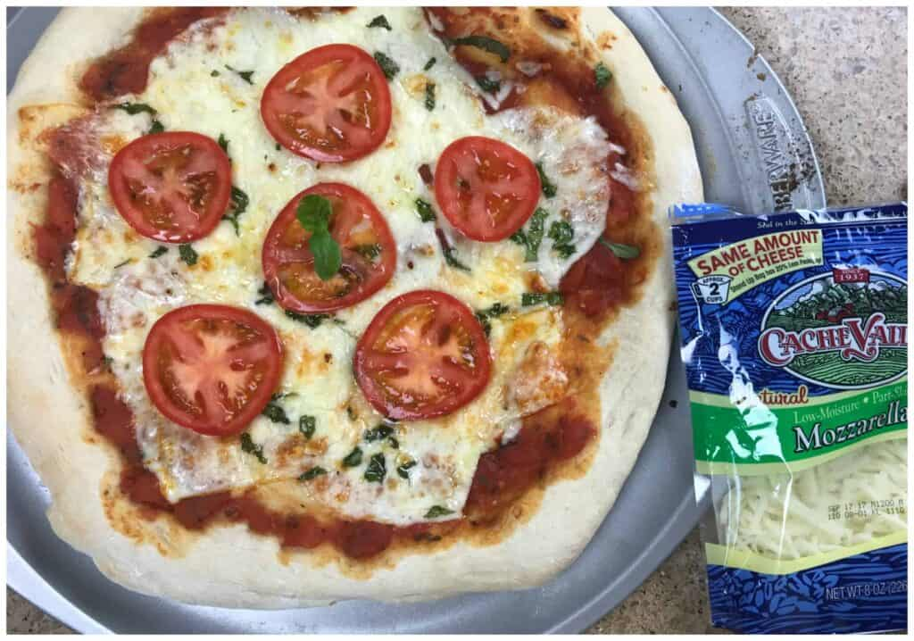 Fire Grilled Three Cheese Margarita Pizza