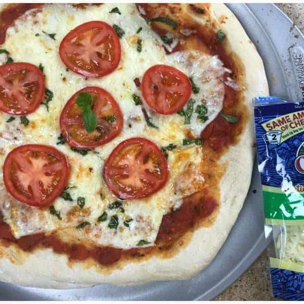 Fire Grilled Three Cheese Margherita Pizza