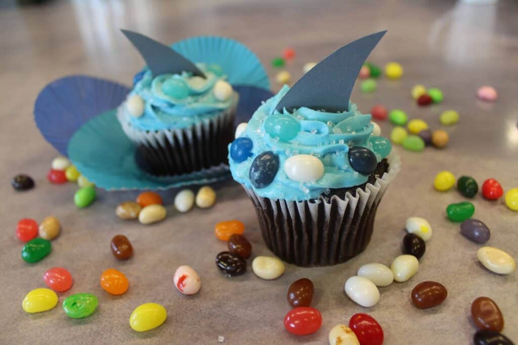 Shark Week Recipe- Shark Fin Cupcakes