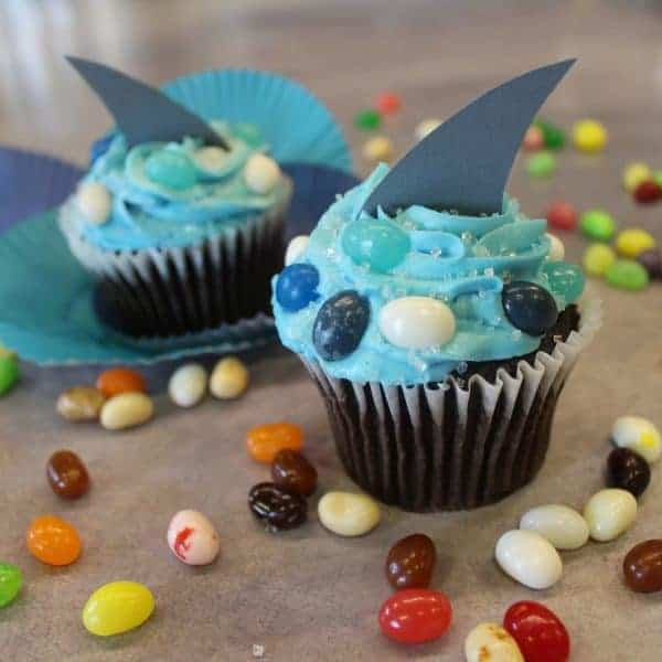 Shark Week Recipe- Shark Fin Cupcakes