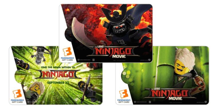 Fandango The LEGO NINJAGO Movie collectible gift Card