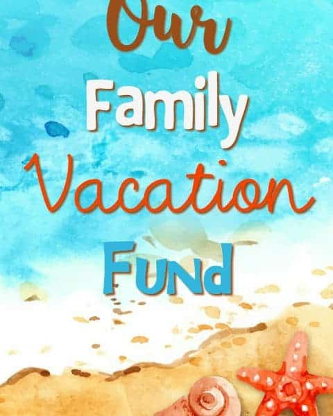 Family Vacation Donation Box Free Printable