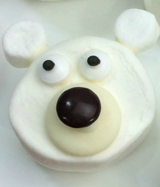 Easy Polar Bear Marshmallows for Hot Chocolate