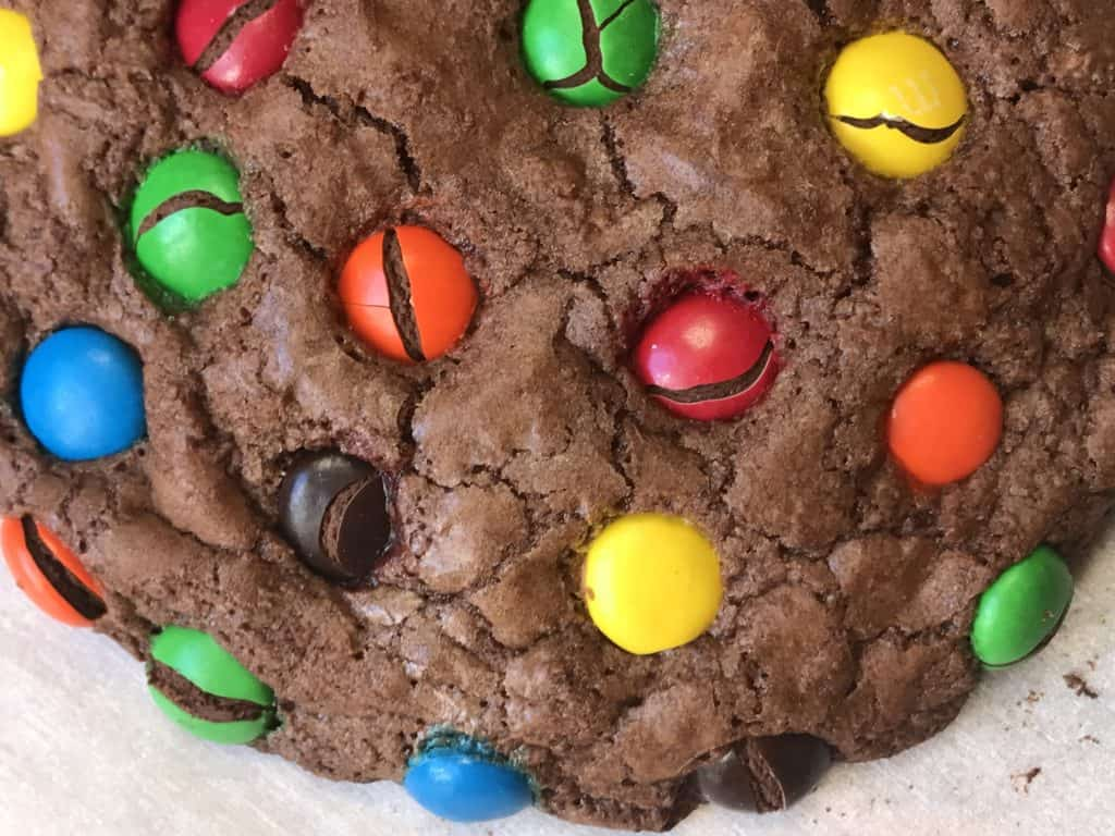Easy Rainbow Brookie: Brownie Cookies