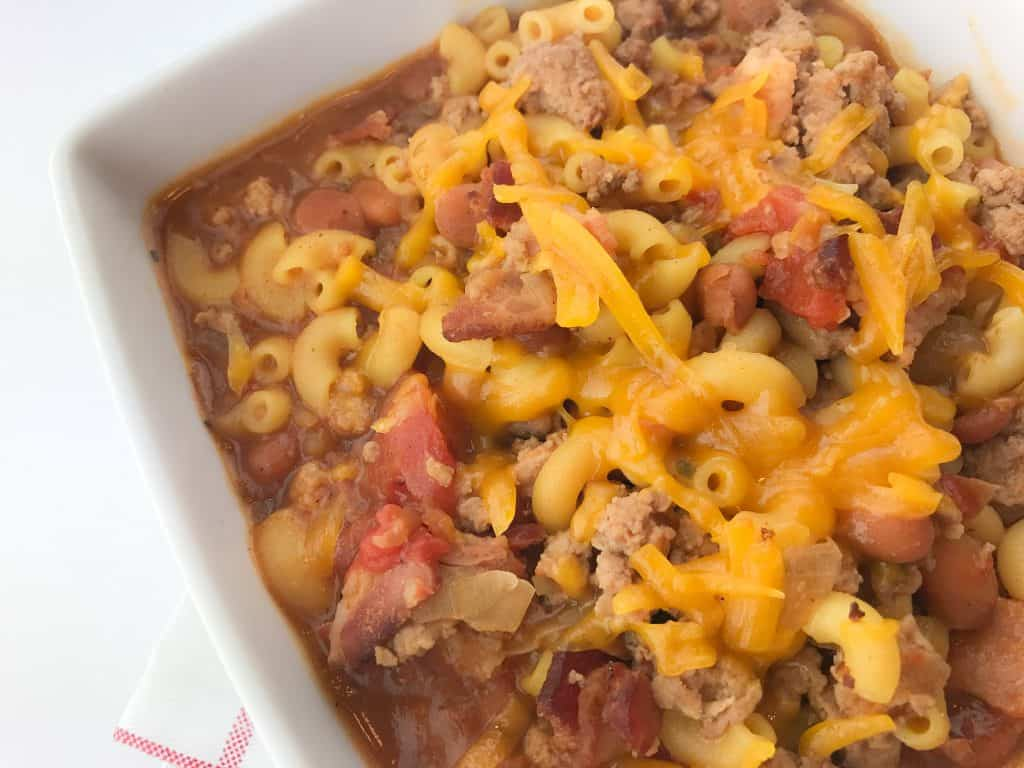 Baked Beans Chili Mac