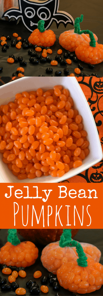 Jelly Bean Pumpkin Easy Halloween Craft for Kids