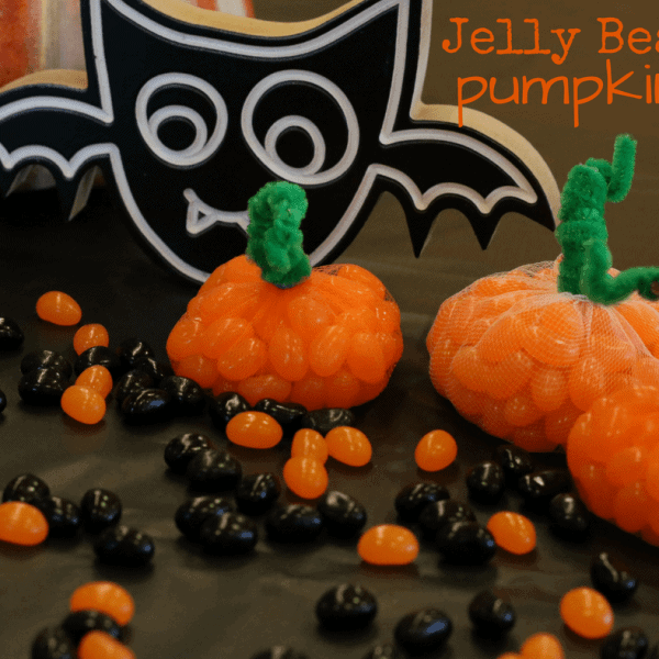 Easy Jelly Bean Pumpkins: Halloween Crafts for Kids