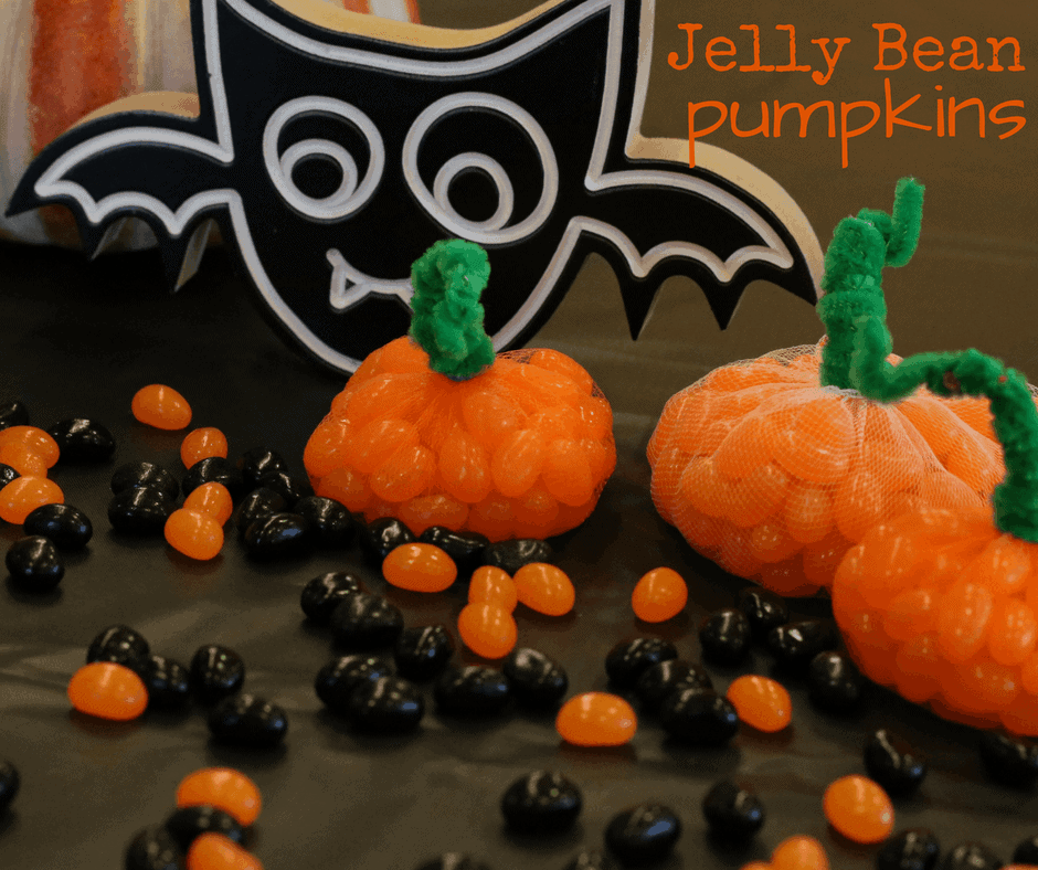 Easy Jelly Bean Pumpkins Craft