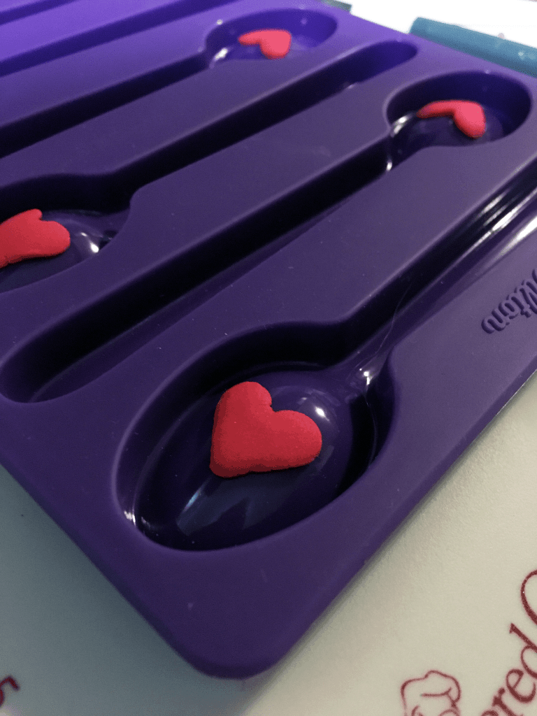 Chocolate Candy Spoon with Heart
