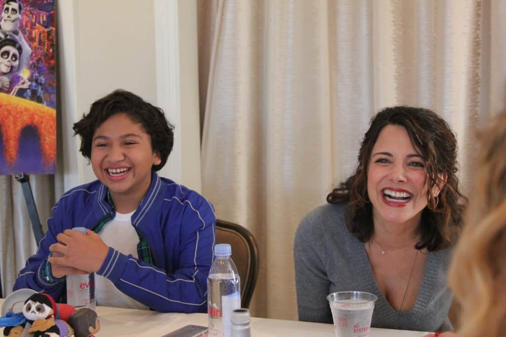 Pixar's Coco Q&A with Anthony Gonzalez and Alanna Ubach