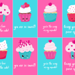 Being Yours is a Piece of Cake Free Valentines Cupcake Printable