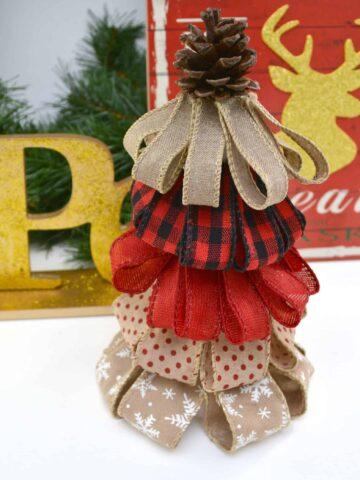 Close up of christmas tree craft