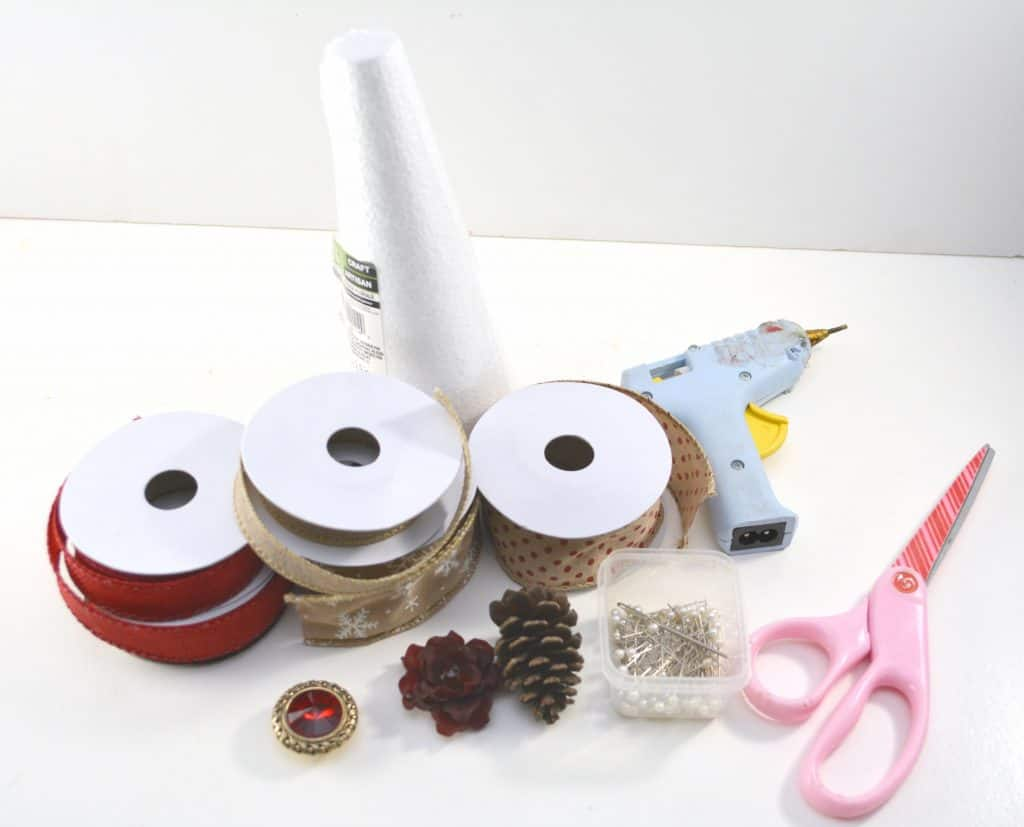 Craft supplies on a table