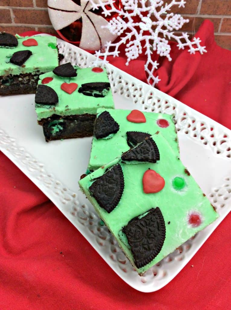 Elf on the Shelf Grinch Brownies
