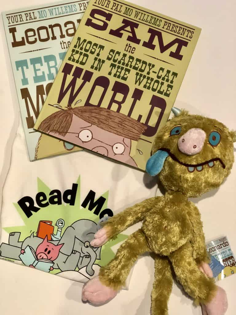Books and stuffed animal