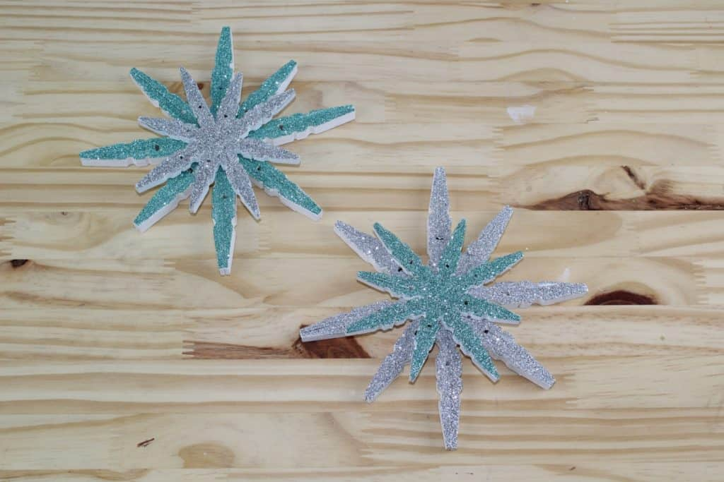 Clothespin and Snowflake