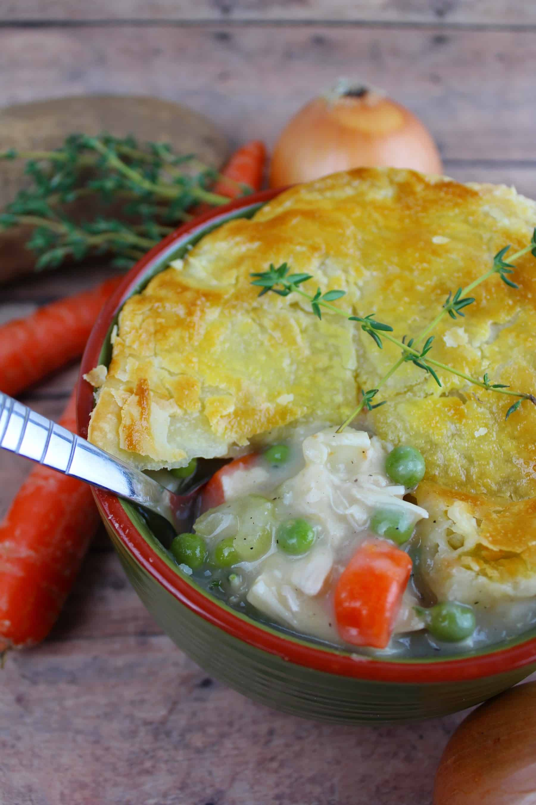 Easy Chicken Pot Pie with Puff Pastry Recipe