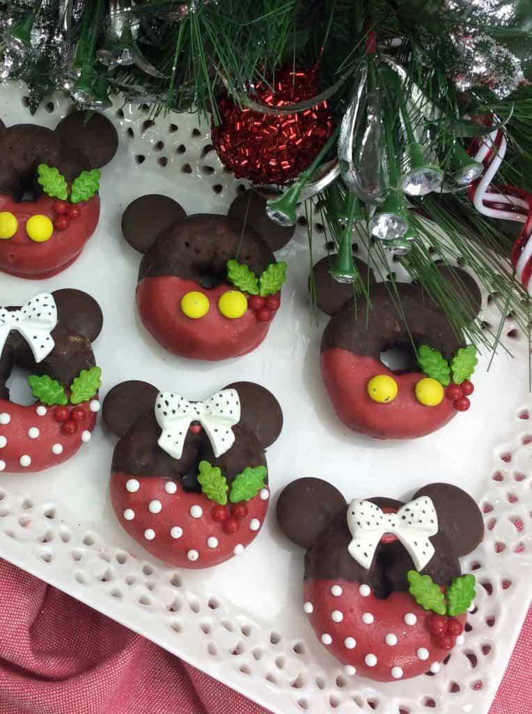 Mickey and Minnie holiday mini donuts