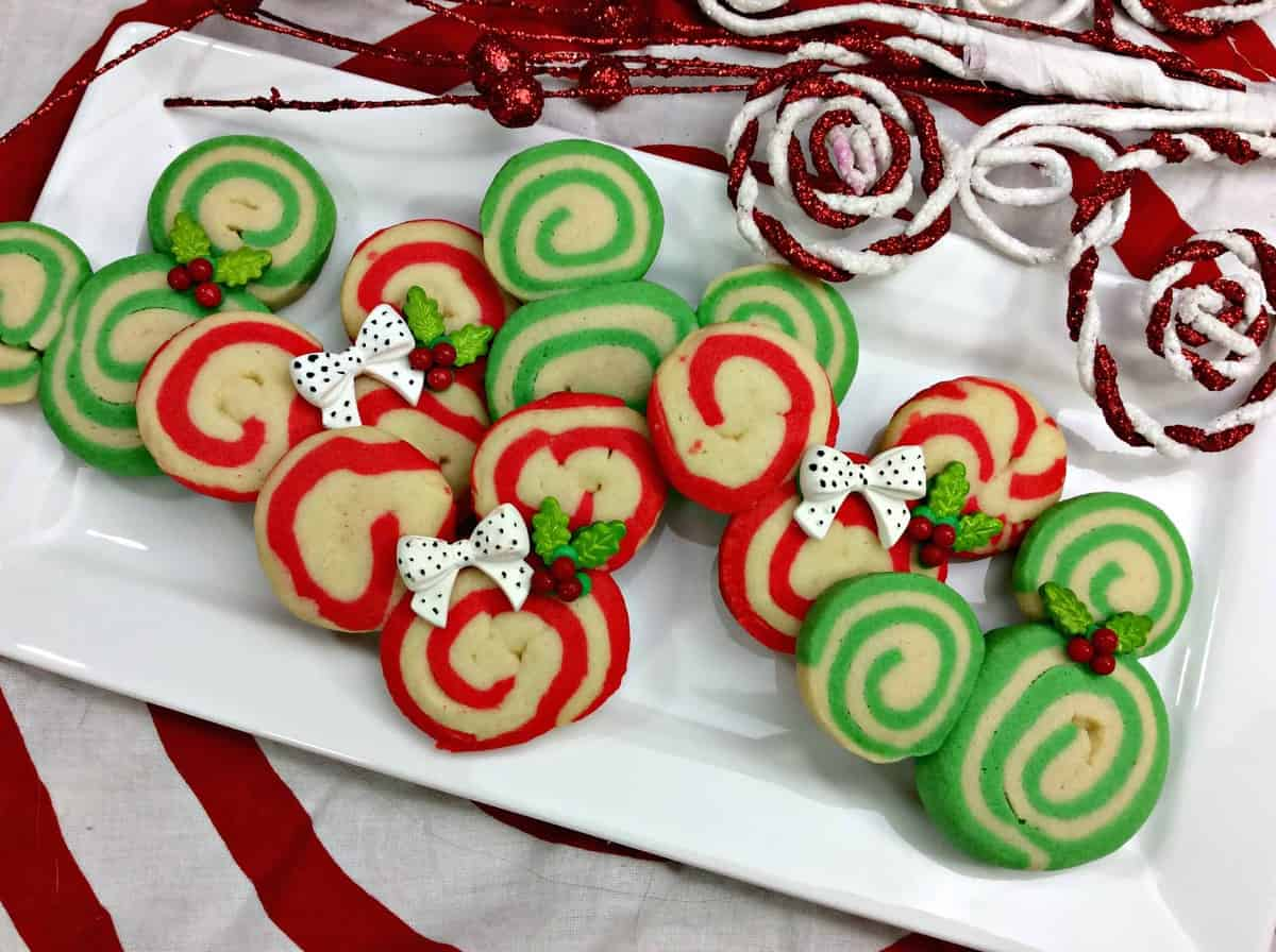 mickey mouse swirl cookies - Mickey Mouse Christmas Cookies